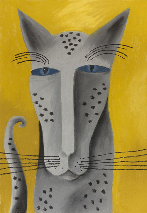Grey Cat by Nell Nile