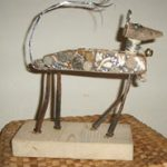 Milagros Dog Sculpture by Nell Nile